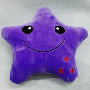 Wholesale plush pillows: Crystal Super Soft Plush Cartoon Pillow  Sofa Cushion Comfortable Smile Star