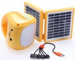 Wholesale solar light: 10W Small Solar Energy Power Home Lighting System with FM Radio