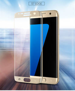Wholesale mobile phone: 3D Full Cover Tempered Curve Screen Protector for Mobile Phone Galaxy S7 Edge