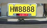 Sell Car Led Licence Plate Frame