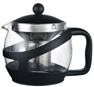 Wholesale pot holder: Heat Resistant Glass Tea Pot/Tea Maker with PP Holder Infuser/Strainer