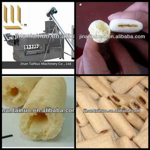 Wholesale stuffed pillows: Core-filling Snack Food Processing Line (Skype:Tainuojixie,Tel:0086 18653342336)