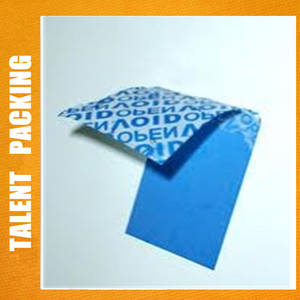 Wholesale die cut labels: Packing Security Label Custom Void Label