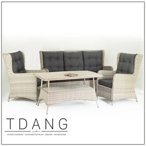 Wholesale furniture: Valencia Wicker Furniture 4 Pieces Deep Seating Group with Cushions