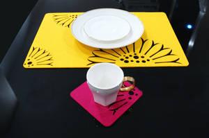 Wholesale felt placemat: Felt Placemat, Laser Cut Table Mat,Place Mat