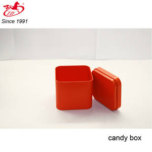 Wholesale candy box: Small Red Candy/Chocolate Tin Box, Card Tin Cans, Soap Metal Tin for Sale