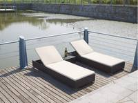 Sell  Hot New models PE Rattan beach chairs chaise Lounges LAN00