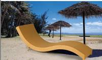 Sell Hot models Poly Rattan beach chair rattan chaise lounger LA