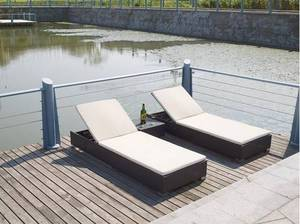 Wholesale lounge: Hot New Models Rattan Chaise Lounges Beach Chair Furniture