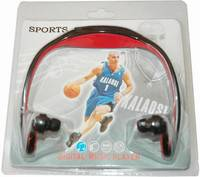 Wireless Wrap Around Headphones Digital Sport MP3 Player