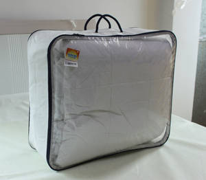 Wholesale pocket pc: Transparent Vinyl Zipper Bag for Bedding Items