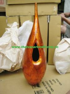 Wholesale lacquer: Vietnam Product Handcrafted Lacquer Vase for Home Decoration