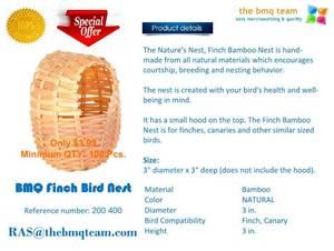 Wholesale finch birds: BMQ Finch Bird Nest