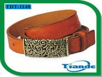 Cowhide Belt,Crimped PIN Buckle Belt