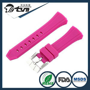 Wholesale silicone watch: OEM Factory Price Silicone Rubber Super Soft 22mm Watch Band