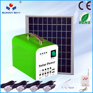 Wholesale Solar Energy Systems: 20W Solar Power System for Home Light Solar Lighting Kit