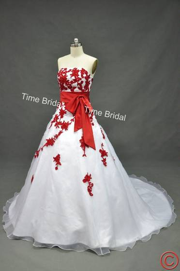 Sell red and white wedding dress for White wedding dress meaning