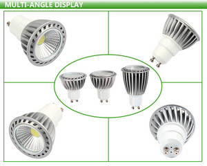 Wholesale led spotlight: Aluminum AC85-265V AC/DC12V 3000K 6000K 5W 6W MR16 GU10 LED Bulb , COB Spotlight LED