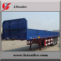 60Tons Flatbed Side Wall Open Tri-axle Cargo Truck Trailer/Vehicle