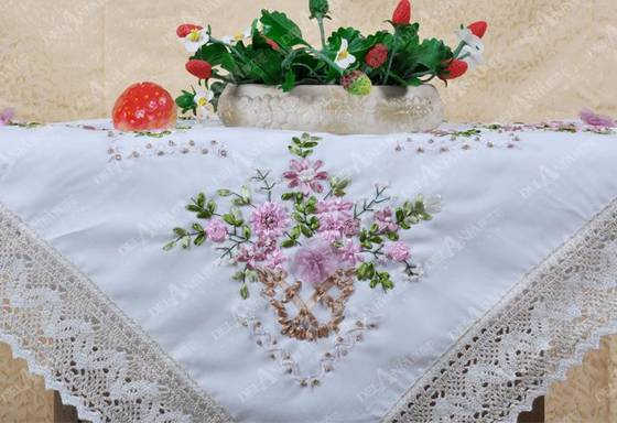 Sell embroidery decorative table cloth - Zhengzhou Delanfa Handicrafts ...