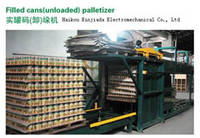 Palletizer and Depalletizer for Filled Canned Food Beverage