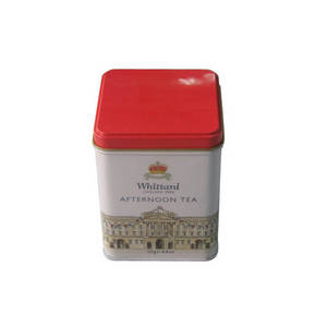 Wholesale candy tin: Square Hinged Candy Tin Can