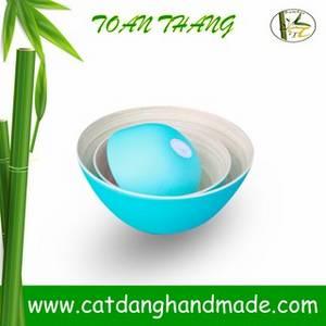 Wholesale handbags: Bamboo Bowl with Various Colors, 100% Handmade in Vietnam