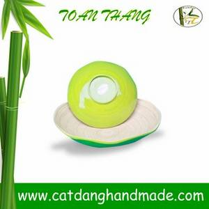 Wholesale craft: Vietnam Good Export Product Fiber Bamboo Bowl, Vietnam Craft Bamboo Bowl
