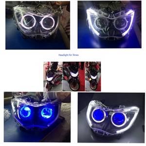 Wholesale projector: Sell Modified Nmax Motorcycle HID Xenon Angel Devil Eye Projector Headlamp Headlight