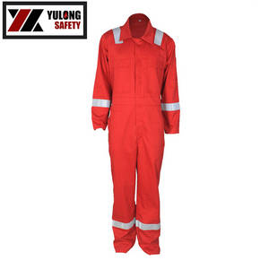 Wholesale Uniforms & Workwear: Fluorescent Orange High Visibility Coverall