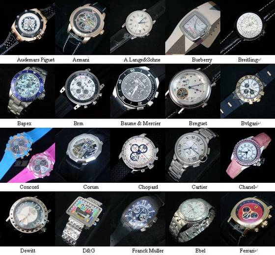 Branded Watchs With Names