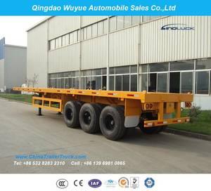 Wholesale semi trailer: 3 Axle 40FT Flatbed Truck Semi Trailer or Platform Semitrailer