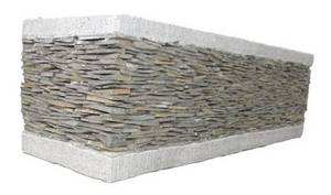 Wholesale stone: Stacked Stone Window Box Planter