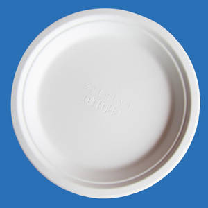 Wholesale paper plate: Bleached 9 Inch Round Diposable Bagasse Paper Plates