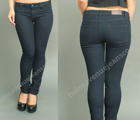 New Arrival 2014 Wholesale Women Fashion Low Rise Blue Black Denim