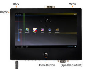 Wholesale double side cross led: Cortex-A8 TINY2107 Inch Touch Screen, Android 4.0