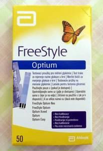 Wholesale blood glucose test strips: Abbott FreeStyle Optium - 50 Blood Glucose Test Strips - Expiry Date 30-09-2018