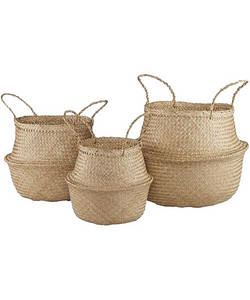 Wholesale packing box: Seagrass Convertible Basket, Foldable Baskets