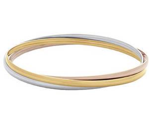 Wholesale gold bangles: Fashion Simple Rose Gold Bangles