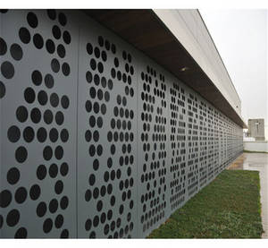 Wholesale curtain panels: Curtain Wall / Cladding Perforated Metal Ceiling Panels 2.5mm / 3mm Aluminium Sheet