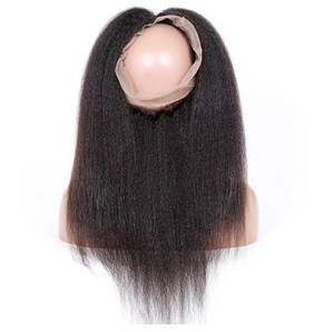 Wholesale Other Hair Accessories: Wholesale Kinky Straight Brazilian Virgin Hair 360 Lace Frontal