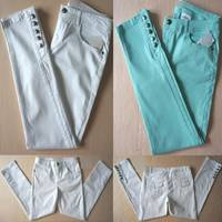 Sell women chino pants crop jeans ankle length pants in stock