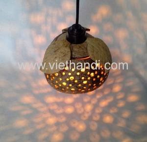Wholesale hangings: Hanging Light Shell Coconut