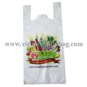 Wholesale t: T-shirt Handle Poly Plastic Bag Made in Vietnam