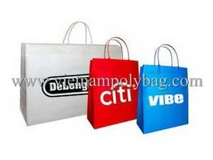 Wholesale bag: Promotional Plastic Bag with Rigid Handle