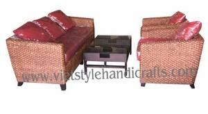 Wholesale water hyacinth furniture: Water Hyacinth Sofa Set