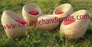 Wholesale chair: Water Hyacinth Oyster Chair