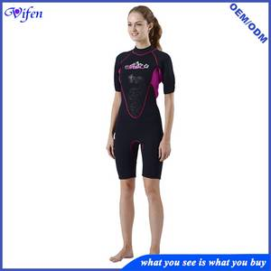 Wholesale polyester tag: Women Neoprene 3mm Wetsuit for Female Swimming Shorty Suit