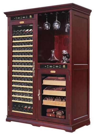 Sell VinBro Wine Cigar Combo Cabinet Furniture Giant ...