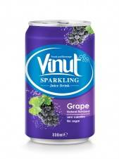 Wholesale customized design labels: Canned Sparkling Water Grape Juice Drink